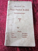 1915 MANUEL DU VEST POCKET KODAK AUTOGRAPHIQUE-CHARGEMENT-INDICATIONS GÉNÉRALES PRISE VUE-OBTURATEUR-Faire Défiler Image - Photographie
