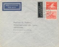 Nederlands Indië - 1940 - 10 Cent Sociaal Bureau In Paar Op LP-cover Van Soerabaja Naar Amsterdam / Nederland - Niederländisch-Indien