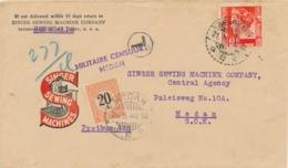 Nederlands Indië - 1940 - 20 Op 37,5 Cent Portzegel Op Cover Van LB BENGKALIS Naar Medan - MILITAIRE CENSUUR MEDAN - Nederlands-Indië