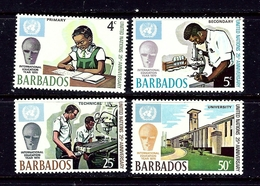 Barbados 344-47 MNH 1977 Intl Education Year - Barbados (...-1966)