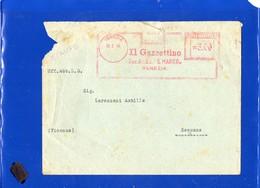 """##(DAN197)-Italia 1948-Busta Da Venezia Per Sessano,affrancatura Meter - EMA  Il Gazzettino Soc.An.Ed.""""S.Marco"""" Venezia - Affrancature Meccaniche Rosse (EMA)"""