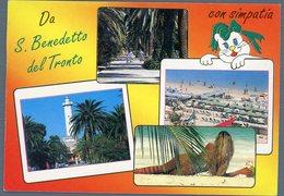 °°° Cartolina N. 87 S. Benedetto Del Tronto Vedutine Viaggiata °°° - Ascoli Piceno