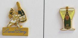 2 Pin's CHAMPAGNE : DUVAL-LEROY Et GOSSET - Boissons