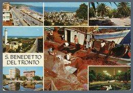 °°° Cartolina N. 88 S. Benedetto Del Tronto Vedutine Viaggiata °°° - Ascoli Piceno