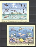 U862 MALDIVES FISH & MARINE LIFE BIRDS FAUNA NATURE WONDERLAND 2KB MNH - Oiseaux