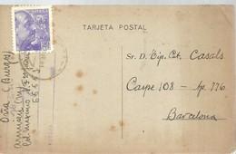 TARJETA POSTAL  COMERCIAL 1940 OÑA  BURGOS - 1931-50 Cartas