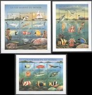 U865 DES COMORES FISH & MARINE LIFE LA VIE MARINE DU MONDE 3SH MNH - Vie Marine