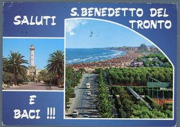 °°° Cartolina N. 89 S. Benedetto Del Tronto Vedutine Viaggiata °°° - Ascoli Piceno