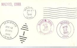 MATASELLOS  DE USA  DE CIUDADES CON EL NOMBRE MADRID   IOWA 1949 - 1931-50 Cartas