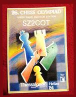 Echecs 1985 Grèce Thessaloniki Olympiad Radiomap - Greece