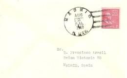 MATASELLOS   USA  CIUDAD MADRID   NEW MEXICO - 1931-50 Cartas