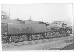 CHEMINS DE FER DU NORD Photographie Format Cpa Locomotive Et Wagon Tender Gros Plan - Trains