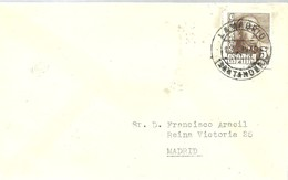 MATASELLOS   LA MADRID  1949  SANTANDER - 1931-50 Cartas