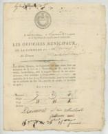 Avis D'impôt Sur Le Grain Et Quittance 1795 . Lizeray . Issoudun . Indre . - Documenti Storici