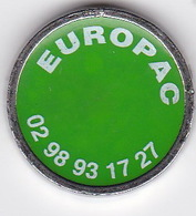 Publicité Jetons De Caddies EUROPAC Cartonnerie - Jetons De Caddies