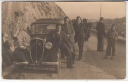 AUTO CAR VOITURE FIAT 508 BALILLA TARGA MESSINA - FOTOCARTOLINA ORIGINALE 1935 - Automobili