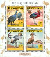 Burundi 2014 - Les Oiseaux Du Burundi - Echassiers - Feuillet - Cigognes & échassiers