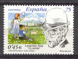 Spain 2001 - Literatura  Ed 3802 (**) - 1931-Hoy: 2ª República - ... Juan Carlos I