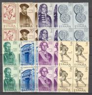 Spain 1966 - Forjadores Ed 1750-57 Bloque (**) - 1961-70 Nuevos & Fijasellos