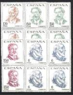 Spain 1967 - Personajes Ed 1830-33 Bloque (**) - 1961-70 Nuevos & Fijasellos