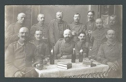 CPA Photo Officiers Militaires Allemands Autour D'une Table Carte Postée De OBEREHNHEIM En 1917 -  Deutscher Offizierskr - Oorlog 1914-18