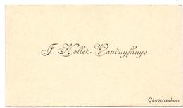 Visitekaartje - Carte Visite - F. Nollet - Vanduyfhuys - Gijverinkhove - Cartoncini Da Visita