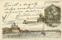 Illustrated Postal Stationary 1896 Castle, River, Visegrad - Hongarije