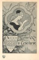 ILLUSTRATEUR STYLE ART NOUVEAU LES SAINTES SAINTE GENEVIEVE   EDITION H.L. PARIS - Illustratori & Fotografie