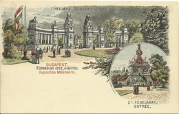 Illustrated Postal Stationary 1896 Mint  Fobejarat Budapst Exposition Millenaire - Hongarije
