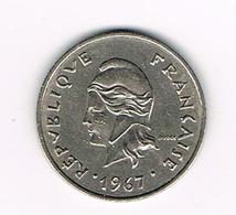 //  FRANS - POLYNESIË  10 FRANC 1967 - Polynésie Française
