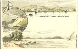 Illustrated Postal Stationary 1896 Mint  Balaton Lake And Environs Ship - Hongarije