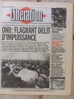 Journal Libération (11 Janv 1993) Assassinat Vice 1er Ministre Bosniaque - Aubry - Antilles:banane  - Brenda Kahn - Zeitungen