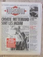 Journal Libération (27 Janv 1993) Croatie - Dumping Social Hoover - Adolescentes Meurtrières - Fichiers Juifs - Jacobsen - Zeitungen