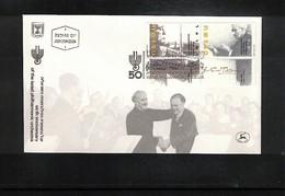 Israel 1986 Michel 1048-49 Music Israel Philharmonic Orchestra FDC - Musik