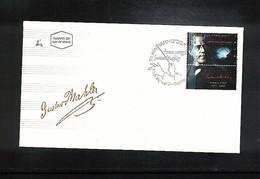 Israel 1996 Michel 1365 Gustav Mahler FDC - Musik