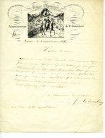 Lettre Cirque Olympique Troyes 1845 M Colombier - Colecciones