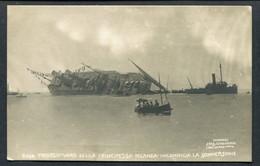 "22.9.1907 LAUNCH & SINKING OF LLOYD ITALIANO ""PRINCIPESSA JOLANDA"" AT RIVA TREGOSO (LANCEMENT/ECHOUE) - Steamers"