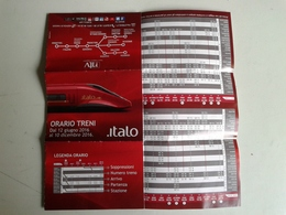 Alt373 Orari Timetable Horaires Treno Train Italo Compagnia Ferrovie Privata, Private Railways Company - Europe