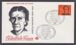 Germany-BRD FDC 1974 - MiNr. 793 - Bedeutende Deutsche Frauen - Gertrud Bäumer (E) - BRD