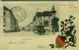 AK AUSTRIA - DEUTFCHER GRUS AUS GRAZ - SCHILLERFRAFKE - 1900s (BG3712) - Graz