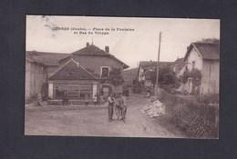 Gennes (25) Place De La Fontaine Et Bas Du Village ( Animée Ed. CLB ) - France