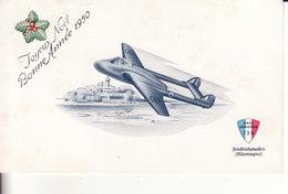 BASE AERIENNE 136  - Allemagne - Joyeux Noël - Bonne Année 1950 - Avion - - Sonstige