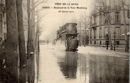 CPA Crue De La Seine Paris Boulevard De La Tour Maubourg 18 Janvier 1910 - La Crecida Del Sena De 1910