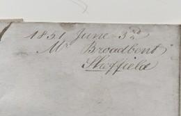 Grande Bretagne - Lettre De 1851: Cachet SHEFFIELD - Marcofilie