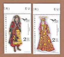 AC - TURKEY STAMP - EUROMED COSTUMES USED IN MEDITERRANEAN MNH 08 JUNE 2019 - 1921-... Republic