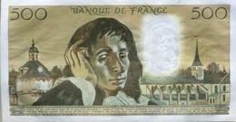 Billet De 500 Francs PASCAL. - 500 F 1968-1993 ''Pascal''