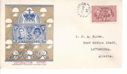 19605) Canada Coronation Postmark Cancel 1937 Coronation Cover - 1937-1952 Reign Of George VI