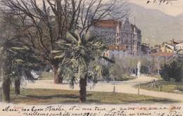 BOZEN-BOLZANO-PARK MIT HOTEL=BRISTOL=-CARTOLINA VIAGGIATA IL 10-1-1905 - Bolzano