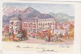 MERAN-MERANO-BOZEN-BOLZANO- HOTEL=KAISERHOF=-CARTOLINA VIAGGIATA IL 8-8-1903 - Bolzano