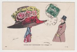 MF119 - Illustration SAGER - Femme Avec Très Beau Chapeau - Laisse Moi Contempler Ton Visage - Sager, Xavier